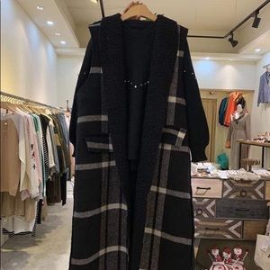 Fleece long vest